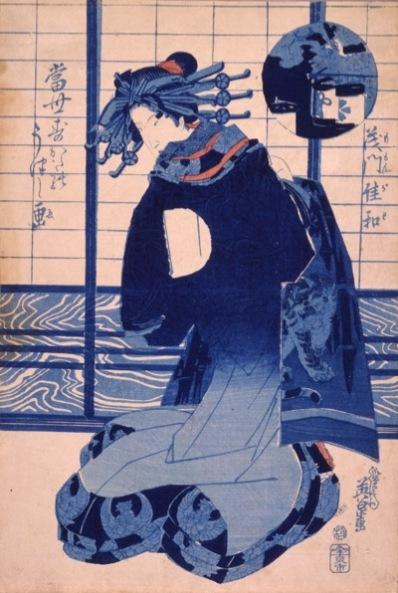 Keisai Eisen Momongawa dalla serie: Aspetti dello stile moderno, 1830-1844 circa Silografia policroma, 37.3×24.4 cmChiba City Museum of Art