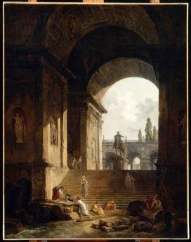 Hubert Robert, Vue pittoresque du CapitoleAvec la statue équestre de Marc-Aurèle, Valenciennes, 1774, Musée des Beaux-Artsinv. P46-1-499Foto © RMN-Grand Palais / René-Gabriel Ojéda