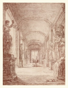 Hubert Robert, Un disegnatore nella Galleria capitolina, 1762-1763, Los Angeles, The J. Paul Getty Museum, inv. 200712, Digital image courtesy of the Getty's Open Content Program