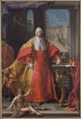 P. Batoni, Ritratto a figura intera del Principe Abbondio Rezzonico, 1766, Gallerie Nazionali d'Arte Antica di Roma. Palazzo Barberini. Foto di Mauro Coen