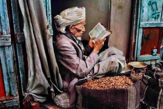 00044_01, Sana'a, Yemen, 1997, YEMEN-10071. CAPTION: Man Reading. Sana'a, Yemen, 1997. MAX PRINT SIZE: 30X40 Man reading the Qur'an, Sana'a, Yemen, 1997 -Untold (pg. 170) IG: A man reading the Qur'an. Photo taken in Sana'a, Yemen. final print_milan Untold_book The Unguarded Moment_Book final print_MACRO final print_Genoa final print_HERMITAGE Fine Art Print retouched_Sonny Fabbri 07/14/2015 MCS1997010K056, NYC92968