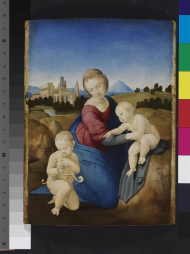 "Madonna and Child with the Infant Saint John. ""The Esterházy Madonna"""