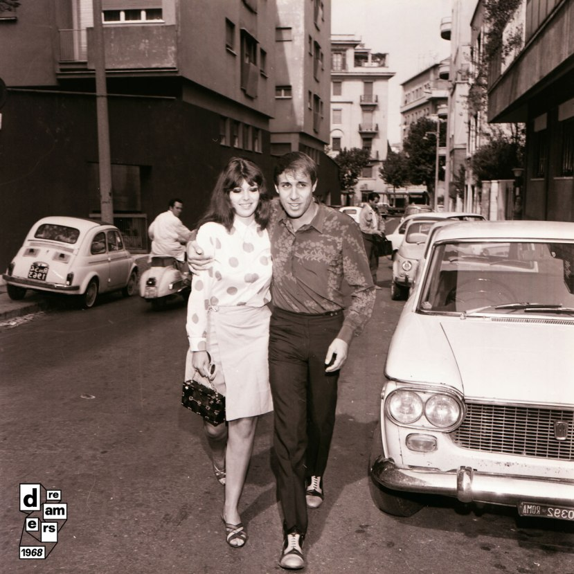03_-DREAMERS-1968-AGI-conferenza-stampa-Adriano-Celentano-per-film-Serafino-con-la-moglie-Claudia-Mori-1-ottobre