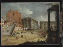 Bernardo Canal (1673-1744) e Canaletto (1697-1768) Santa Maria d'Aracoeli e il Campidoglio, Roma 1720 ca. olio su tela, cm 146,5 x 200 Budapest, Szépmúvészeti Múzeum/Museum of Fine Arts, 53.483 © 2018. Szépművészeti Múzeum - Museum of Fine Arts Budapest