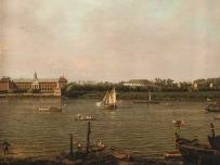 Canaletto (1697-1768) Il Chelsea College, la Rotonda, casa Ranelagh e il Tamigi, Londra 1751 olio su tela, cm 95,5 x 127 La Habana (Cuba), Coleccion Museo Nacional de Bellas Artes, 92-289
