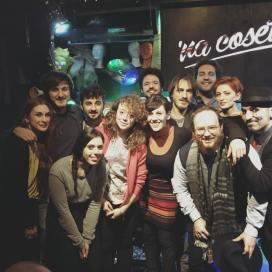 Una parte del gruppo di cantautori e addetti ai lavori dell'edizione 2018 del concorso