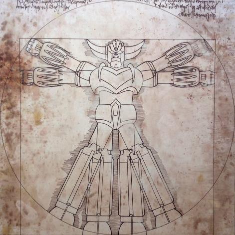 atelier-montez-mr-monsters-Deus-ex-machina-acrilico-e-caffè-100x100-2013