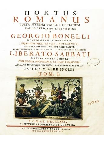 plantae-eureka-2018-roma-_Libro Hortus Romanus-Giorgio Bonelli-Biblioteca Angelica