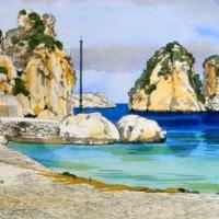 """Gli acquerelli di Moireau in """"Sicilia, il Grand Tour"""" al Palazzo Cipolla"""