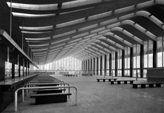 Vasari Termini Station (archs. Eugenio Montuori, Leo Calini, Annibale Vitellozzi et al.) Gelatine silver print, 1950 Architectural Press Archive / RIBA Collections