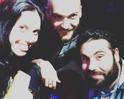 Flavia Pasqui con Emiliano Felicissimo e Luca Frugoni (The Castaway)