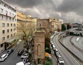 Tratto di Mura tra via Campania e Corso d'Italia