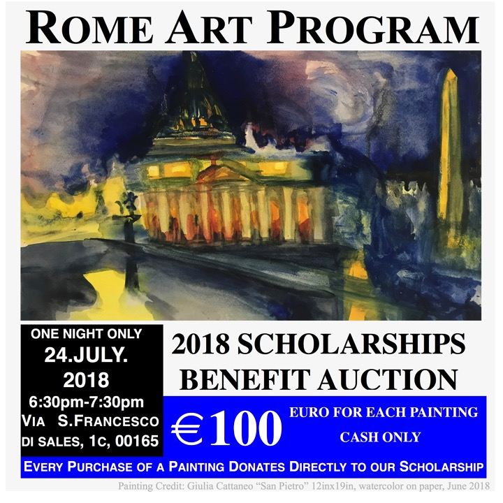 2018 Rome Art Program Scholarship Benefit Auction---OKK-1