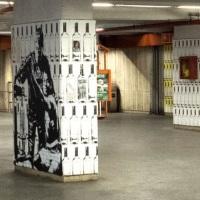 """""""Vuoti di memoria"""", l'arte urbana sbarca nella metro di Porta Furba"""
