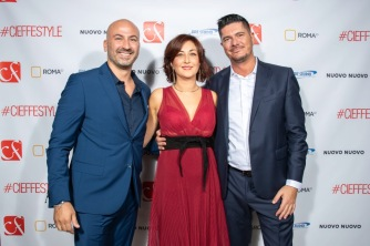 Crescenzo Coppola (a sinistra) con Maria Lulia Carnesi e Fabrizio Schilirò