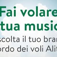 Ascolta il tuo brano in volo! Ecco il contest SIAE-Alitalia