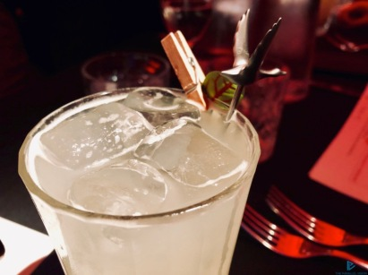Vodka Grey Goose, Saint Germain, lime soda alle ostriche del mixologist Patrizio Boschetto (Achilli al D.o.m)