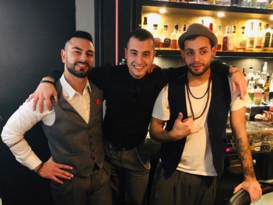 Emiliano Giordano (a sinistra) con Luca Moroni (al centro) e Nicholas Valeri (a destra)