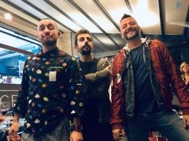 Valerio Chiacchierini (a sinistra) con Simone Iscariota e Fabio Pecere
