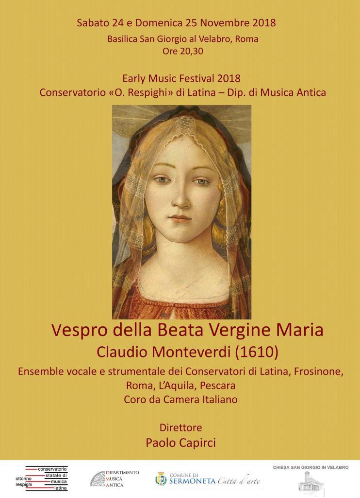 Locandina Vespro della Beata Vergine Maria (Copy)