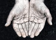 Manual worker hands