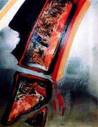 Le solein couchant embraise l_horizon, 1996