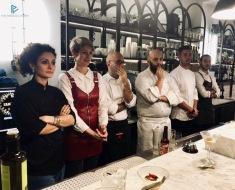 Da sinistra: Maria Luisa Nappi (Il Maritozzo Rosso), Silvia Carpene (Buseto), Edoardo Fraioli (Il Maritozzo Rosso), Mirko Campoli (Osteria 140), Alberto Esterini e Angelo Bonanni (Piccadilly Roma)