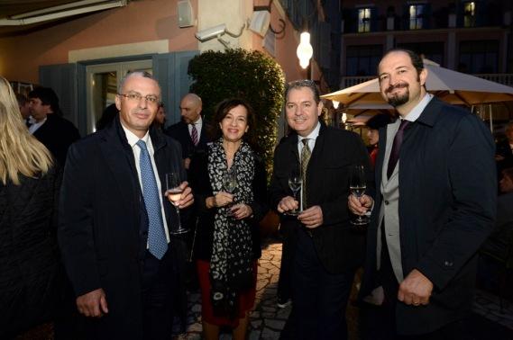 Piero Saulli con Maria Letizia Rapetti, Umberto Giraudo e Ciro Formisano