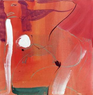 anastasia-kurakina-portraits-galleria-mizar-2019-la_medusa_di_fuoco_30x30cm_acquerello, tempera,_china _su_carta,_2017