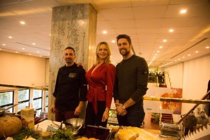 Filippo Buonomini (a sinistra) con Anna Falchi e Luca Dotto