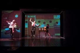 stabile di torino e teatro bellini regia mario martone tango glaciale reloaded 2018 con Jozef Gjura, Giulia Odetto, Filippo Porro fotografie mario spada