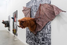 Monster Chetwynd, Bat Panel Photo credit: Andrea Rossetti Courtesy: Massimo De Carlo, Milan/London/Hong Kong and the artist