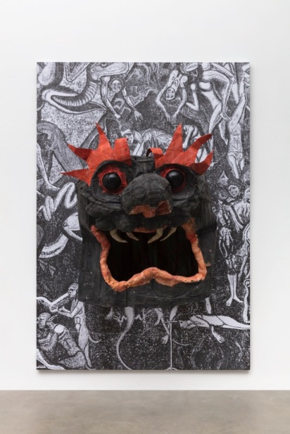 Monster Chetwynd, Black and Red Head Courtesy Fondazione Sandretto Re Rebaudengo, Torino and the artist Photo credits: Eleonora Vescio, Eduardo Giraudi, Istituto Albe Steiner Torino, Sezione fotografia, classe V