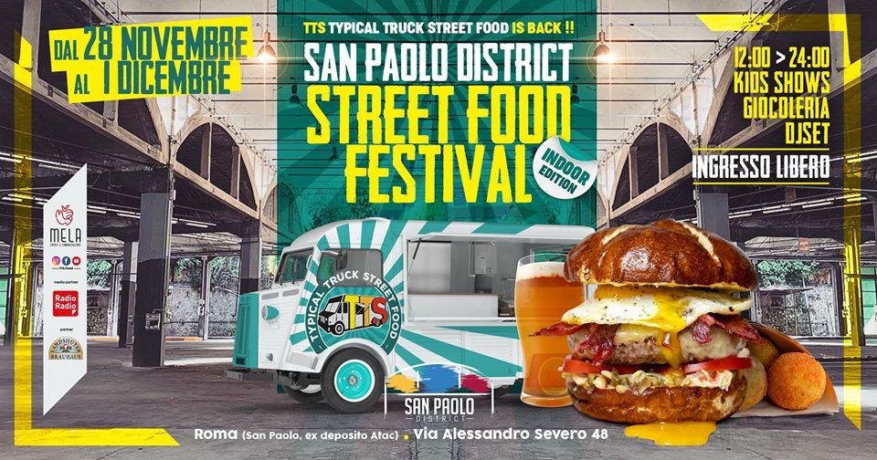 San Paolo District ospita lo Street Food Festival edizione ?indoor?
