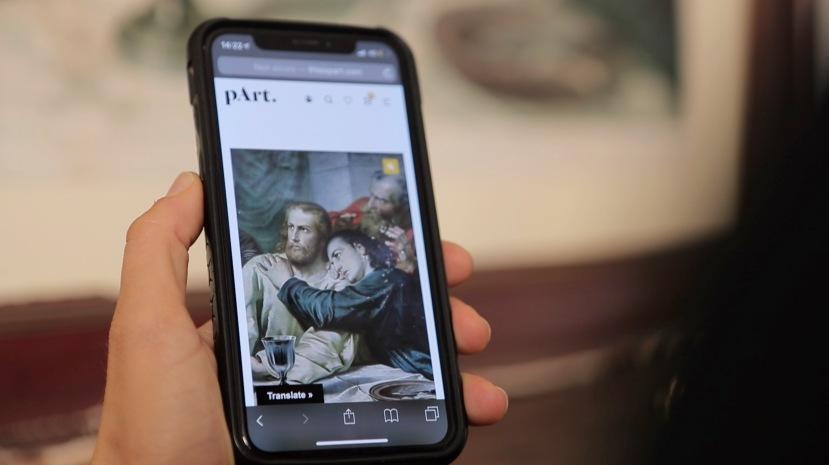 Il sito web di pArt sullo smartphone