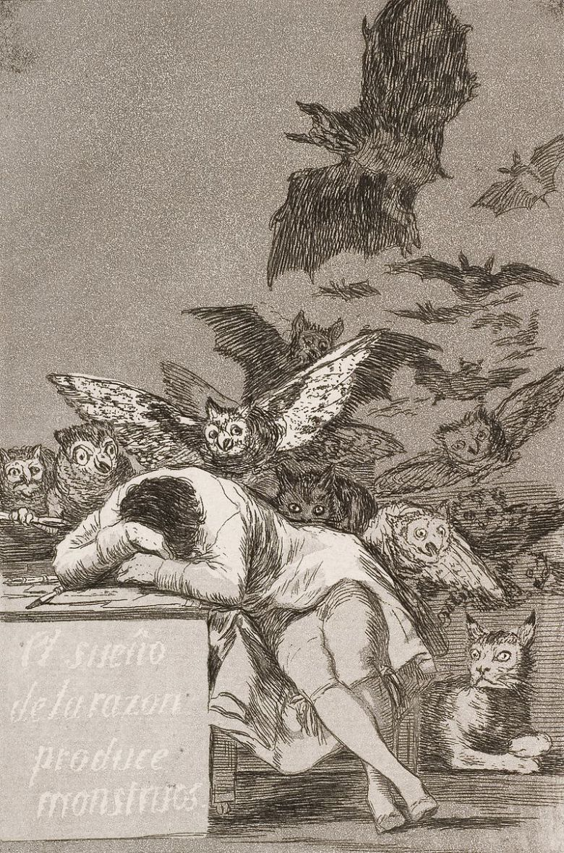Francisco_Jose_de_Goya_y_Lucient es_-_The_sleep_of_reason_produces_monsters_(No._43),_from_Los_Caprichos_-_Google_Art_Project