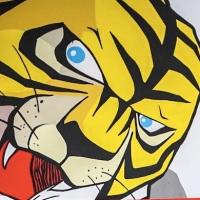 Un Uomo Tigre mangia-smog donato alla Palestra della Legalità