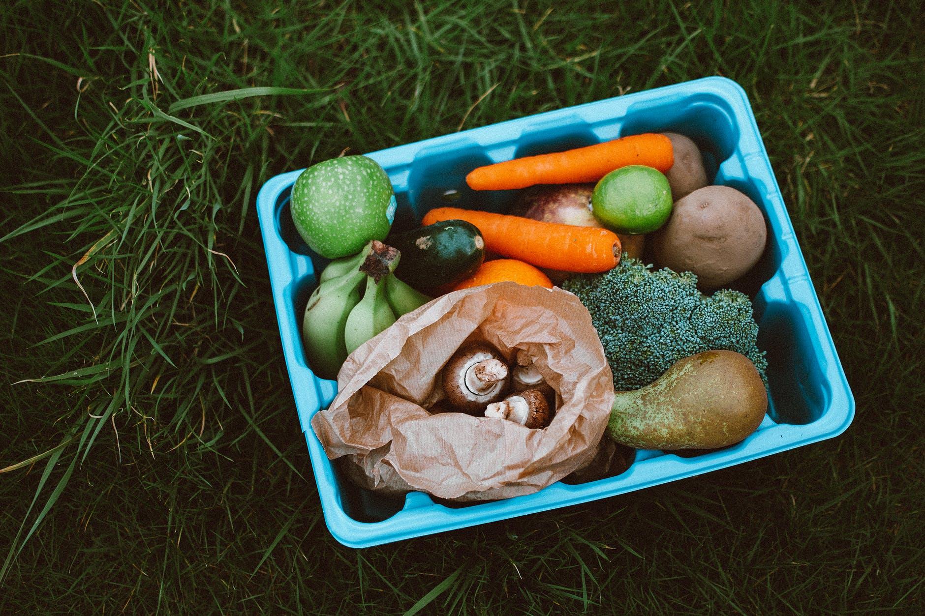 frutta-verdura-ortaggi-in-cesto-su-prato