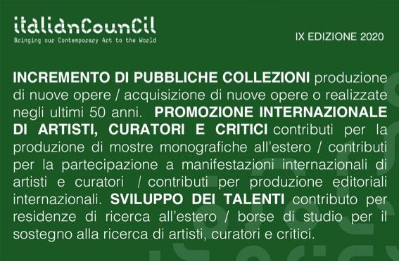 italian-council-incremento-pubbliche-collezioni-scritte-bianche-verde-green