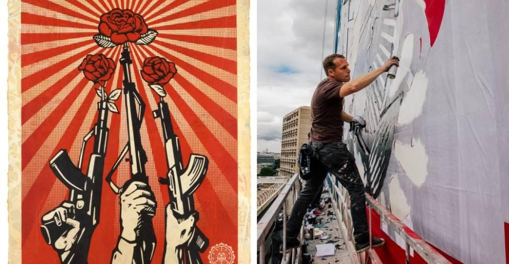 stencil-mitragliatori-fiori-uomo-con-bomboletta-spray-street-art