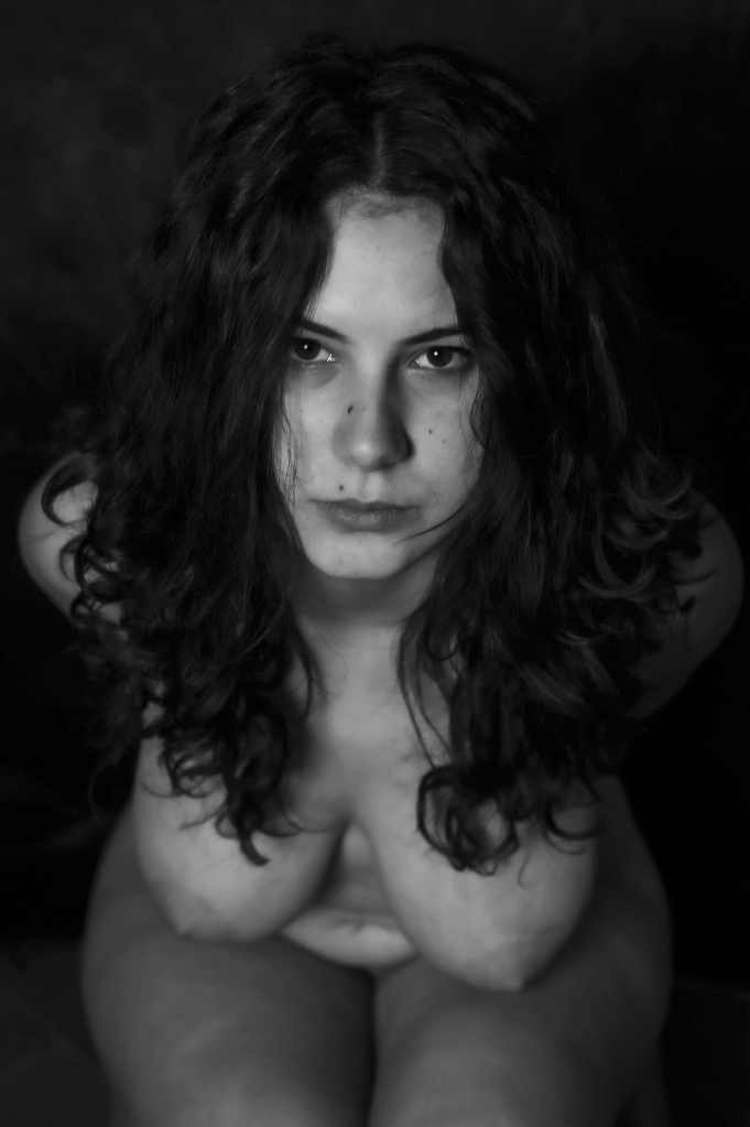 girl-eyes-black-and-white-breast-long-hair-skin
