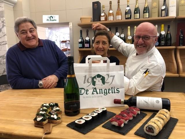 de-angelis-sushi-chef-roll-food-cibo-vino-bruschette-bottiglie-bottles