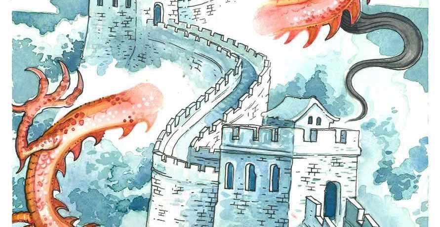 castello-muraglia-ragazza-ragazzo-drago