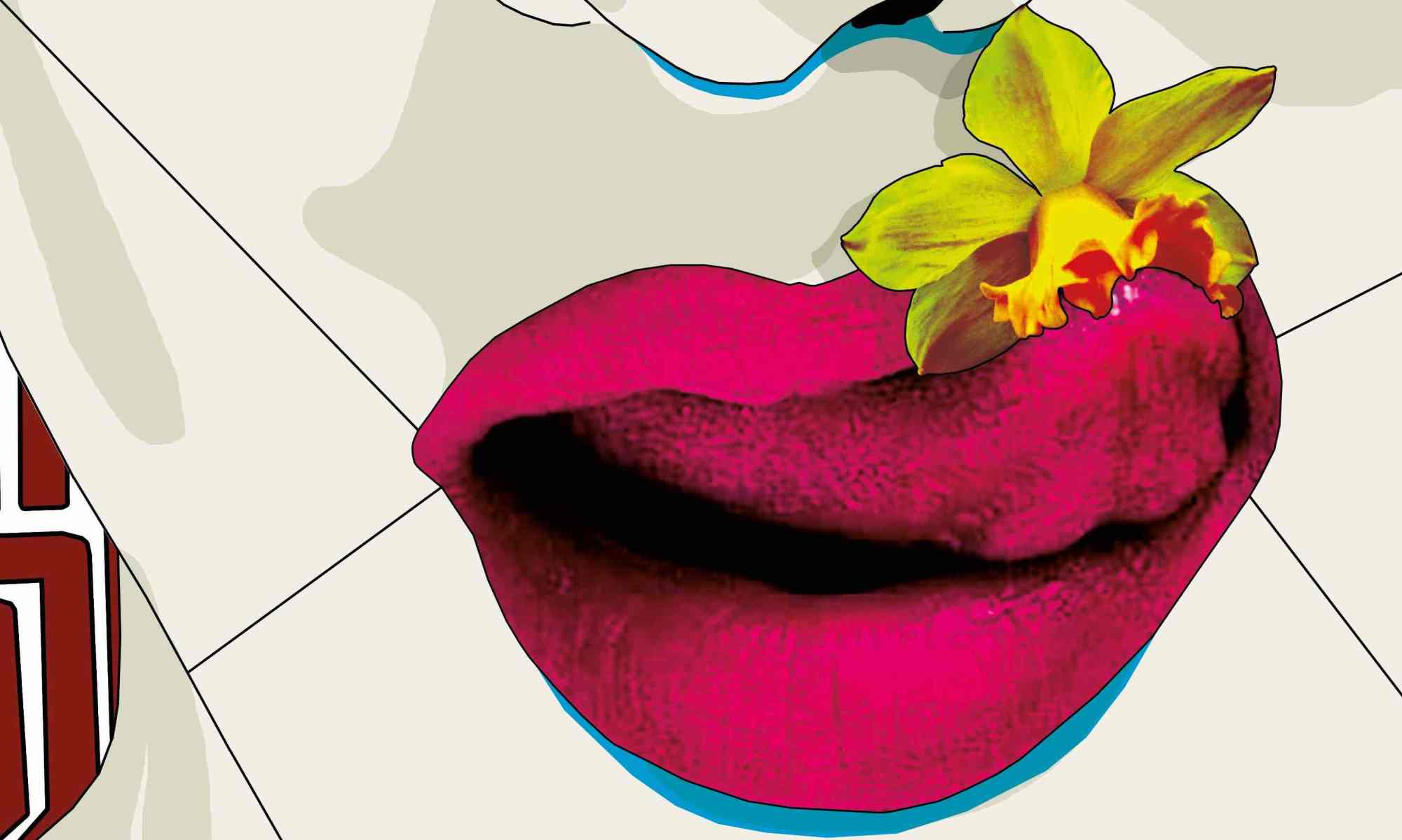 bocca-labbra-lingua-naso-fiore