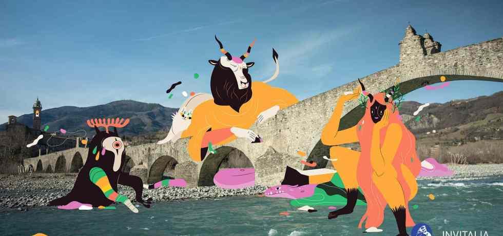 ponte-fiume-animali-illustrazioni