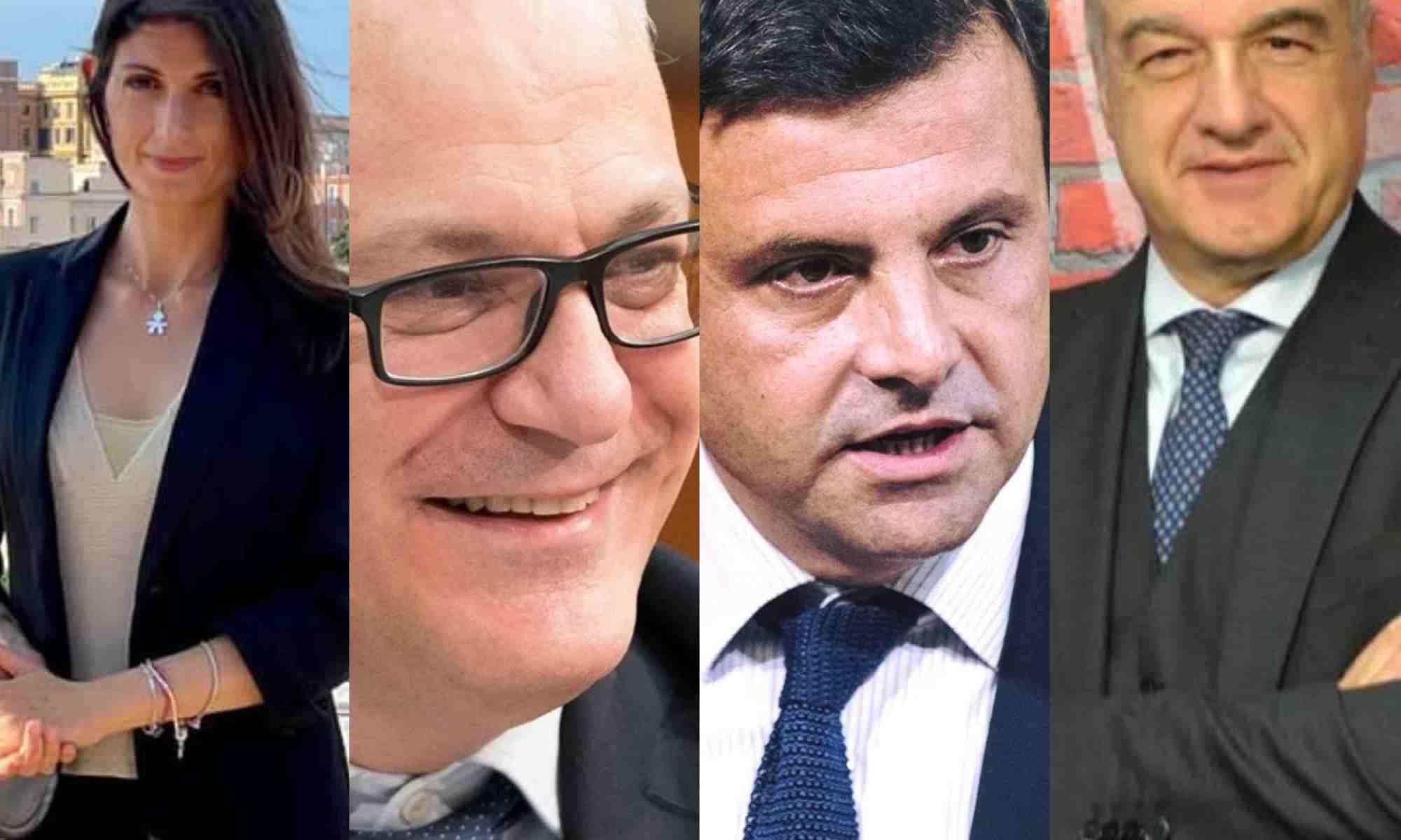 raggi-gualtieri-calenda-michetti-sindaco-roma-2021