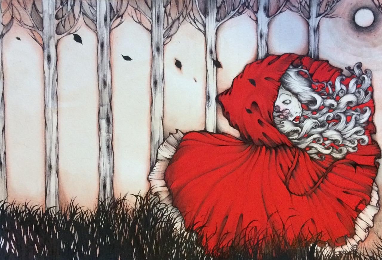 alberi-cappuccetto-rosso-viso-ragazza